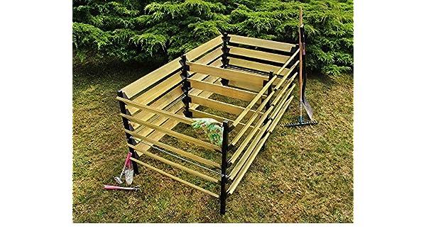 Compostador De Madera Y De Metal Madera De Pino Dimensiones 90x180x90 cm, Farbe:Brown: Amazon.es: Libros