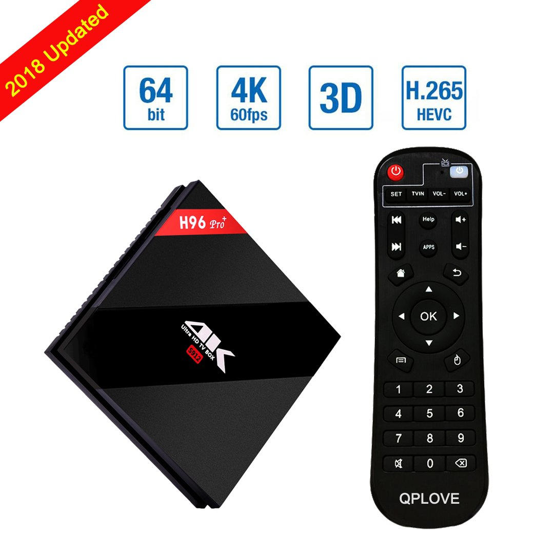 H96 Pro Android 7.1 TV Box 3G RAM 16G ROM Smart TV BOX Amlogic S912 Octa Core 64bit Dual WiFi 2.4G / 5G Bluetooth4.1 Set Top Box by QPLOVE