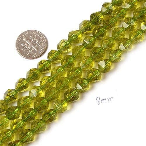 "Wholesale 5 strand 6mm Green Peridot Gemstone Round Loose Beads 15/"""