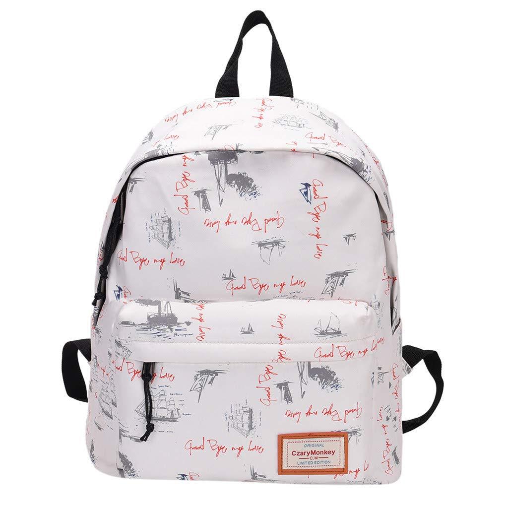 Travel Backpacks Graffiti Shoulder Bag Leisure Daypack Large Capacity School Book Bag Lightweight Backpack By Lmtime(D)