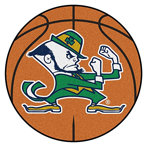 NCAA Notre Dame Fighting Irish Basketball Shaped Mat Area Rug