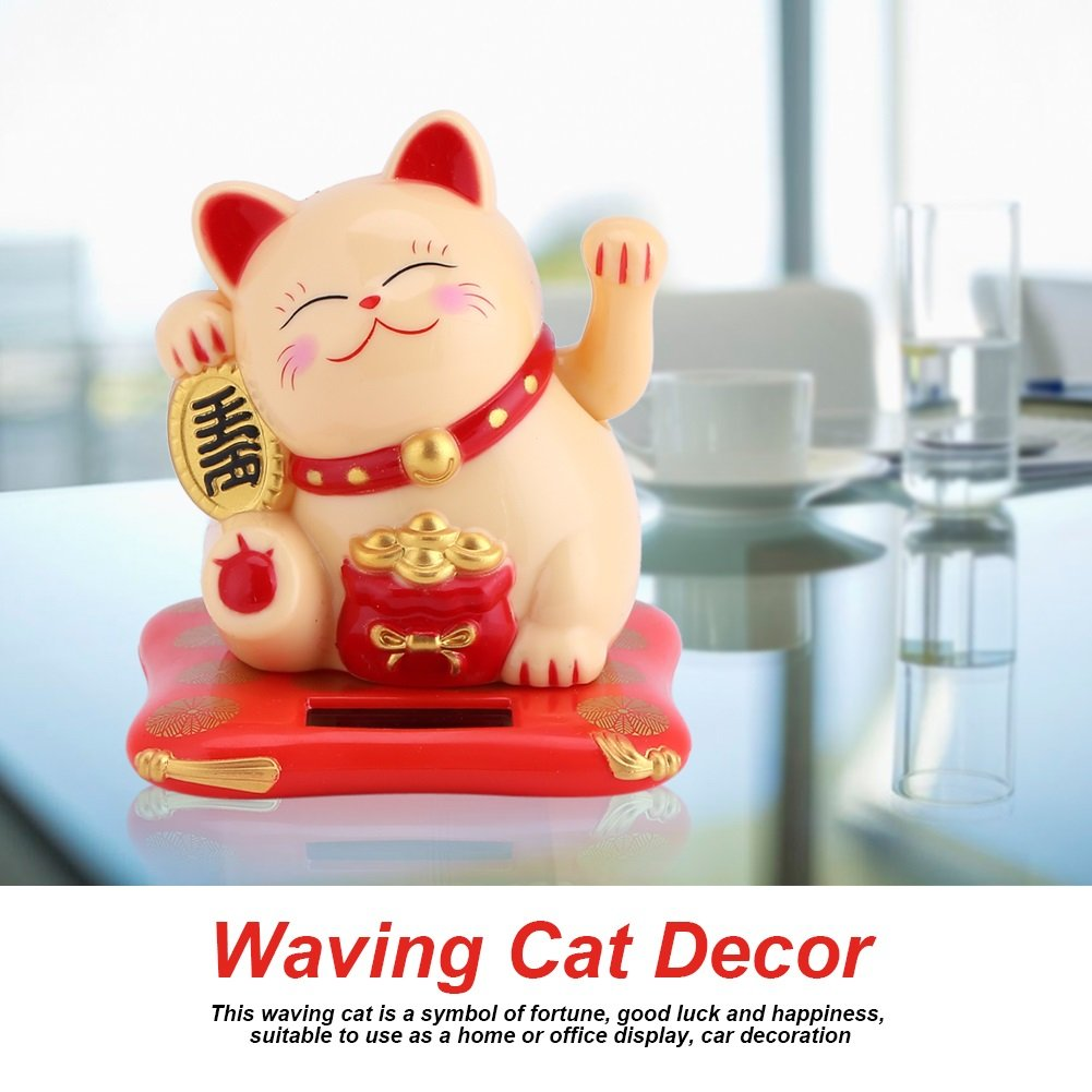 Waving Cat - Gato de Fortuna Lindo con energía Solar, Buena Suerte ...