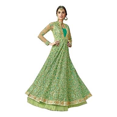 Amazon.com: Pista Indian Designer Anarkali Salwar Traje de ...