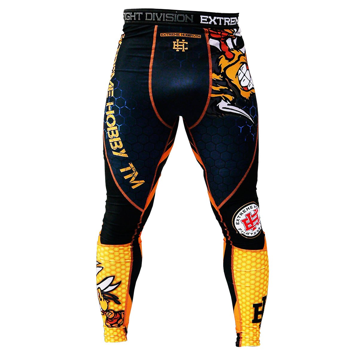 Extreme Hobby Wasp Mens Compression Leggings Durability & Rivalry. MMA Fightwear. Training. Gym