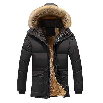 LanLan Abrigo de los Hombres de Invierno, Abrigos Gruesos de Felpa con Capucha Forro Polar Forrado, Cazadora cáliza: Amazon.es: Hogar