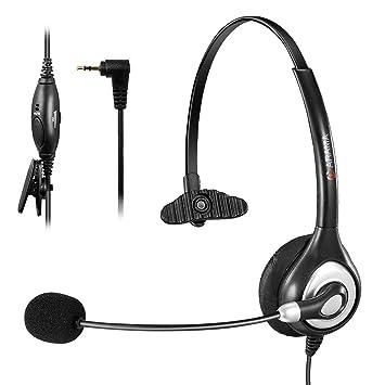 Arama wantek Wired Auriculares con micrófono para teléfono Mono con cancelación de ruido micrófono volumen Mute
