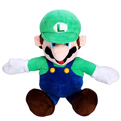"FAIRZOO Super Mario Plush, Luiqi, Mario Soft Stuffed Plush Toy Green - 20"": Toys & Games"