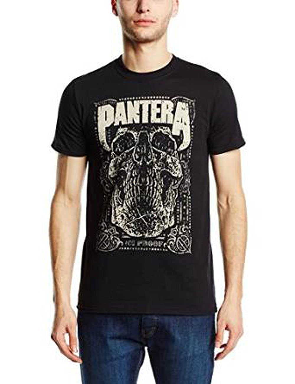 Pantera Men's 101 Proof Skull T-shirt Black