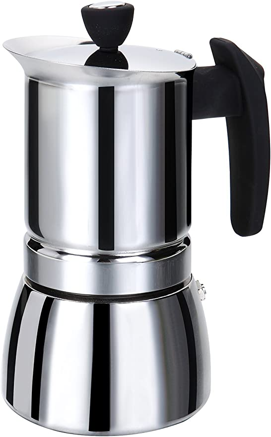 Rossetto cafetera italiana de Inox- asa negra 6 tazas: Amazon.es: Hogar