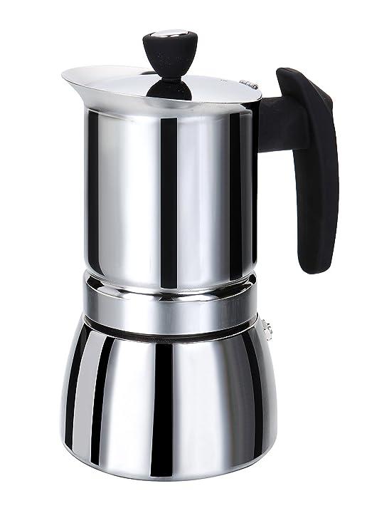Rossetto cafetera italiana de Inox- asa negra 6 tazas: Amazon.es ...