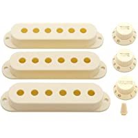 Swhmc Guitar Pickup Switch Tip Cover 6 Hole Single Coil Switch Set 2 Tone 1 Volume Knobs Fender Strat Guitar Cream