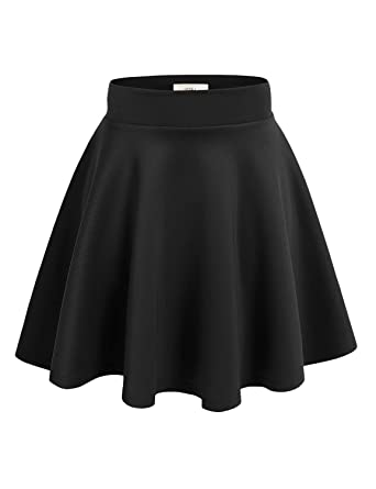 Simlu Womens Skater Skirt, A Line Flared Skirt Reg & Plus Size ...