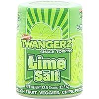 Twangerz Flavored Salt Snack Topping, Lime, 1.15-Ounce Shaker (Pack of 10)