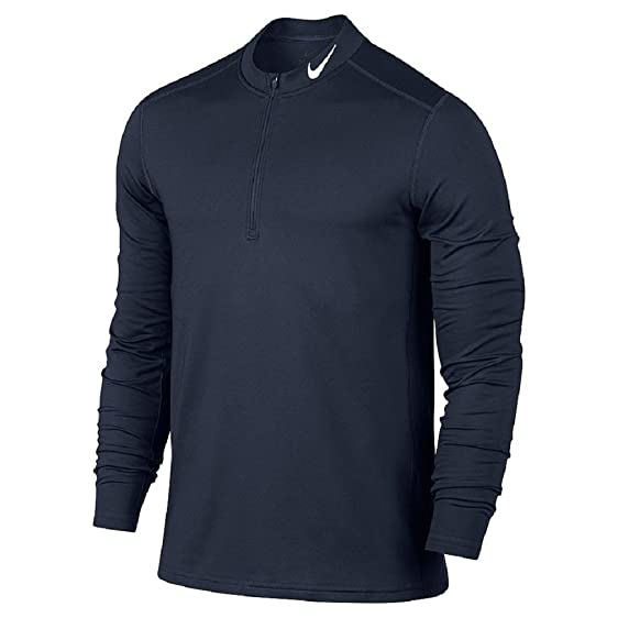Men's Nike Dri-FIT Base Layer Warm Training Pullover (SMALL, Obsidian)