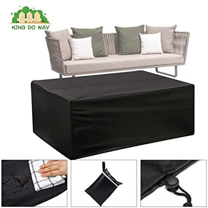Black Furniture Set, Garden Waterproof Dust Cover Table And ...