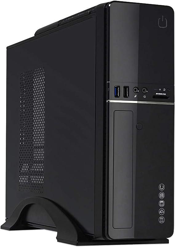 CiT S012B Slim Micro ATX/ITX - Carcasa para PC con Fuente de alimentación de 300 W (Lector de Tarjeta Incorporado), Color Negro: Amazon.es: Informática