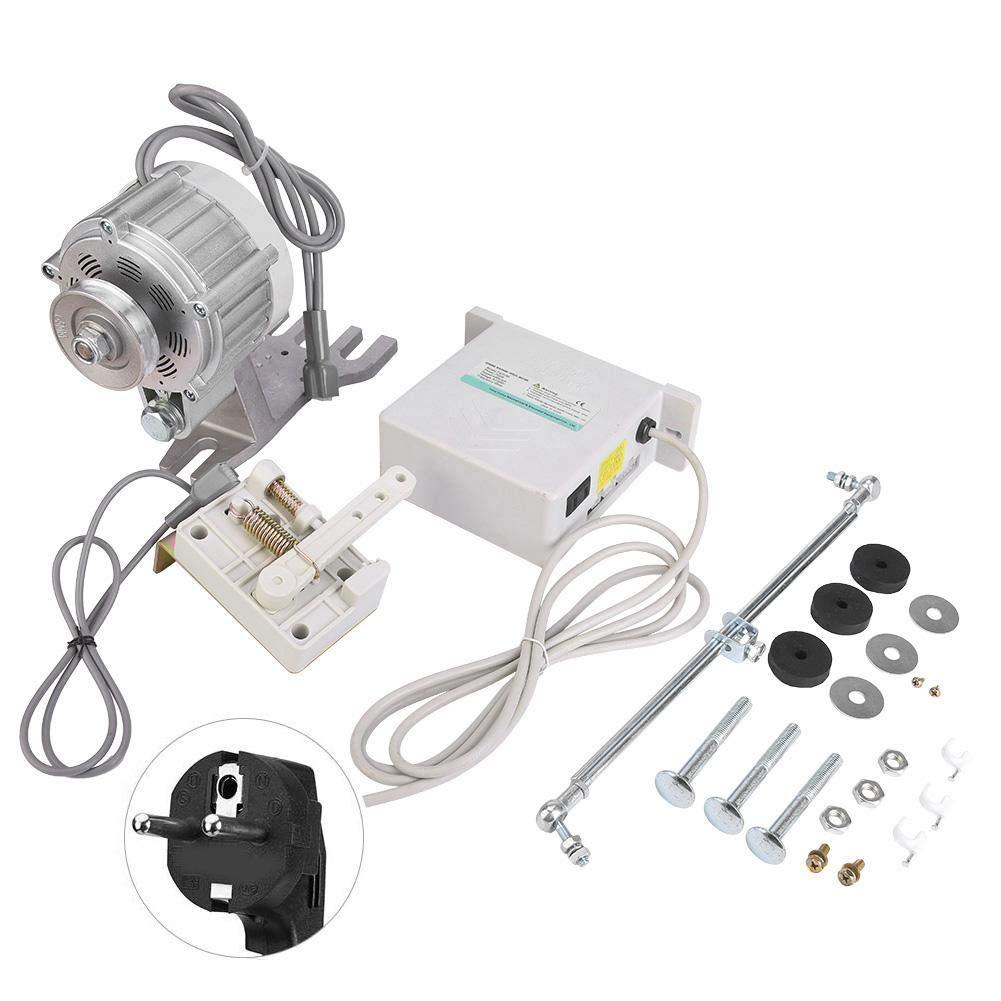 Servomotor, 750W 7N.M Torsión Máxima 0~4000Rpm Motor de Máquina de Coser de Ahorro Energía Ajustable Servomotor Silencioso sin Escobillas con Tope Automático Aguja para Hogares Industriales(220V UE)