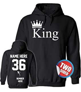 4ec0616837 Clothing & Accessories Activewear Allntrends Couple Hoodie King Queen  Diamond Matching Outfit Valentines Day Top