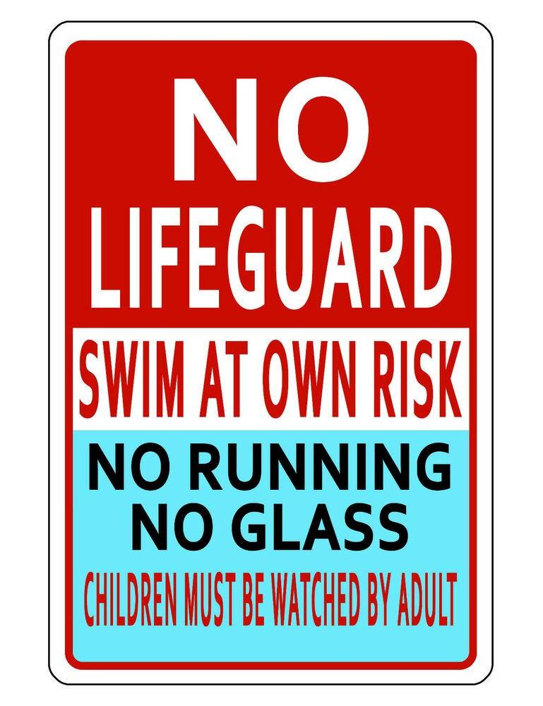 Amazon.com: Yilooom Pool Safety Sign Durable Aluminum Never ...