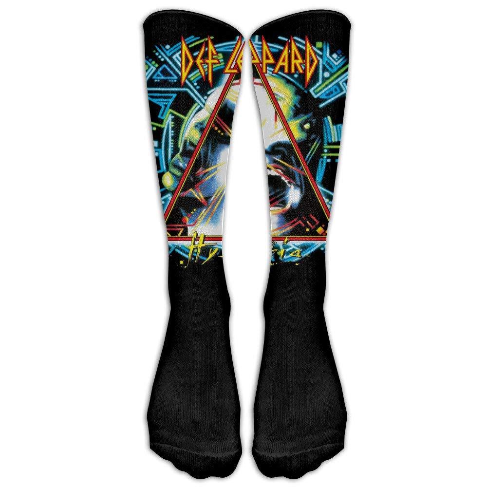 095e3a04243 dfegyfr Unisex Def Leppard Hysteria Album Cover Tube Socks Knee High Sports