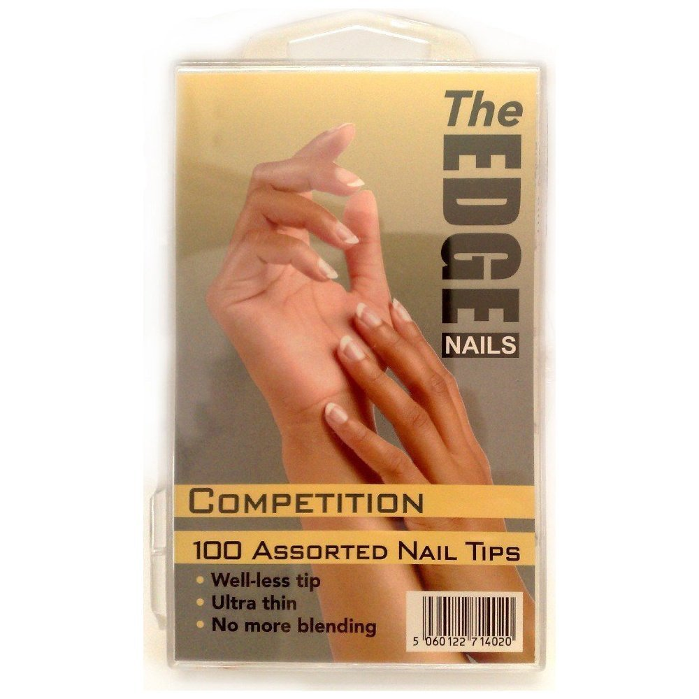 The Edge Natural Competition Nail Tip - Pack of 100: Amazon.co.uk ...