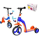 Amazon.com: K2 Bebe Scooter de 3 ruedas y Ride-On Balance ...