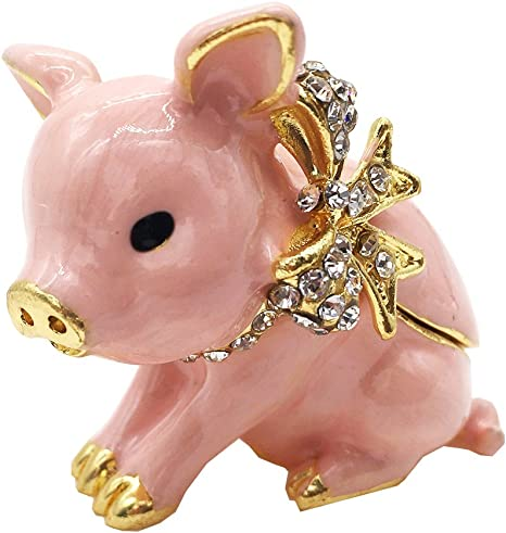 petlover gift Pig ring holder pig sculpture plaster ring holder| ring holder jewelry box pig sculpture pig