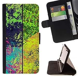 Momo Phone Case / Flip Funda de Cuero Case Cover - Patrón de la salpicadura psicodélico;;;;;;;; - LG OPTIMUS L90