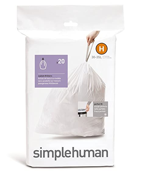 simplehuman CW0168 Custom-Fit Can Liner H 20-pc.