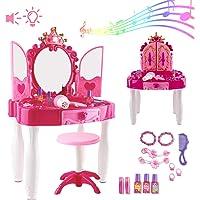 deAO Centro de Belleza Mesita Glamurosa Infantil Tocador