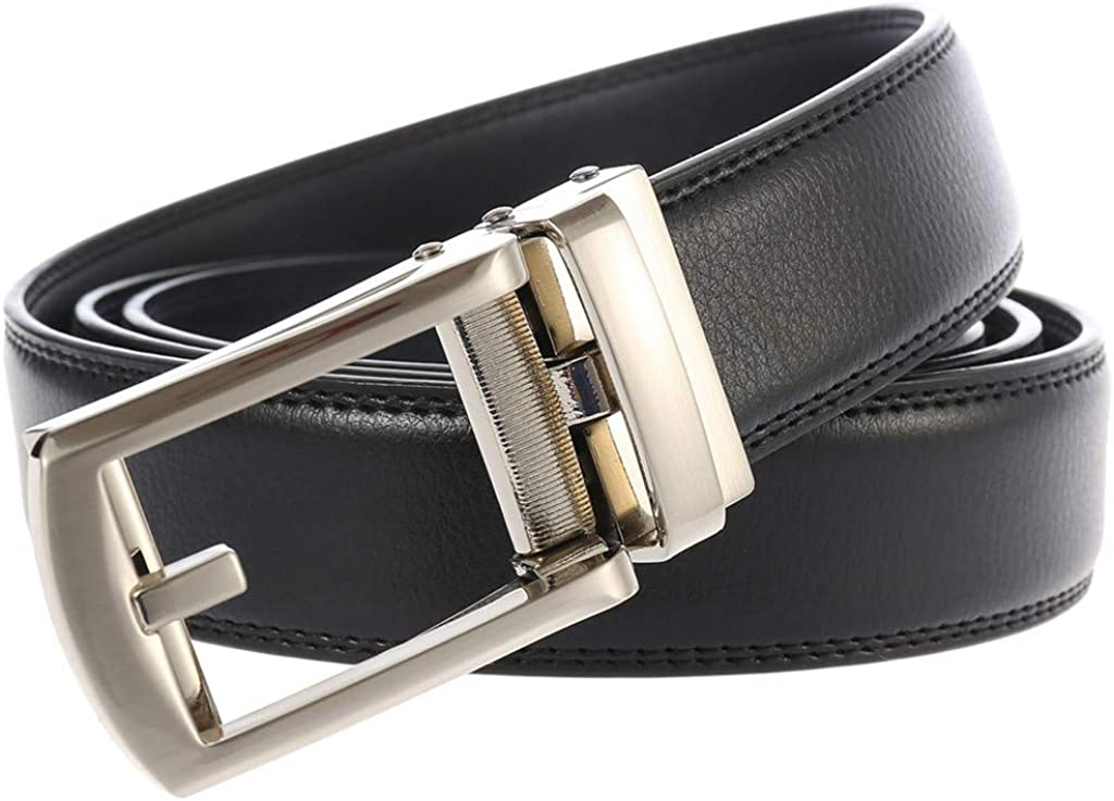Cintur/ón Para Hombres Cinturones Piel con Hebilla Autom/ática HOUMENGO Cintur/ón Cuero Hombre Cuero Piel Hebillas Jeans Reversible Trabajo Traje Cinturones Cl/ásico