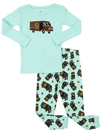 1dcc51043 Amazon.com  Leveret UPS Truck Kids   Toddler Pajamas Boys Girls 2 ...