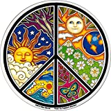"""Dan Morris - Peace Symbol Window Sticker Decal 4.75"""" x 4.75"""" Vinyl Die-Cut Weather Resistant, Long Lasting for Any Surface"""