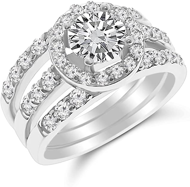Details about  /Sterling Silver Triple Emerald Cut CZ X Crossover Band Wedding Engagement Ring