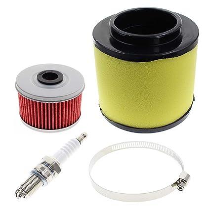 amazon com autokay air filter tune up kit for honda atv trx250amazon com autokay air filter tune up kit for honda atv trx250 trx250te recon trx250ex trx250x recon 250 17254 hm8 000 automotive