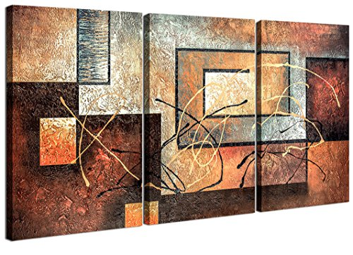 Home Art - Abstract Art Giclee Canvas Prints Modern Art Framed Canvas Wall Art for Home Decor Perfect 3 Panels Wall Decorations Abstract Paintings for Living Room Bedroom Dining Room Bathroom Office (Wall Decors For Dining Room)