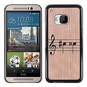 - / Notes Sheet Music Instrument Play - - Funda Delgada Cubierta Case Cover de Madera / FOR HTC ONE M9 / Jordan Colourful Shop/