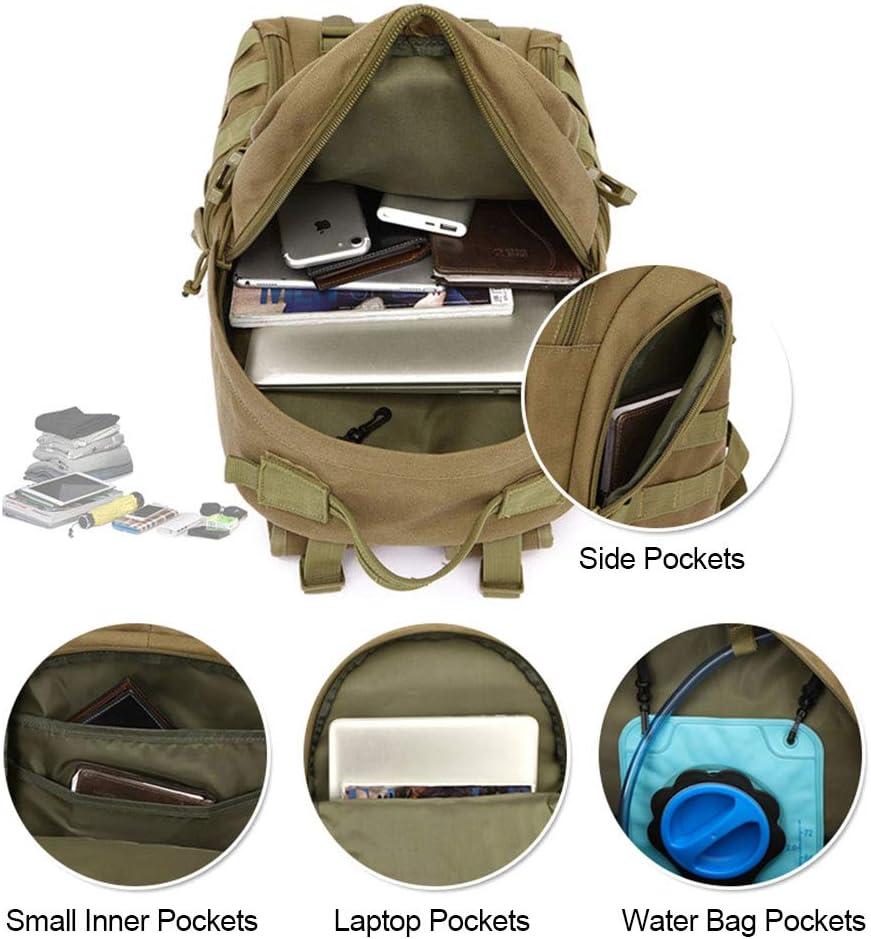 Selighting Sac /à Dos Tactique Militaire 40L Sac /à Dos Randonn/ée Molle Homme Imperm/éble pour Voyage Camping Trekking Randonn/ée