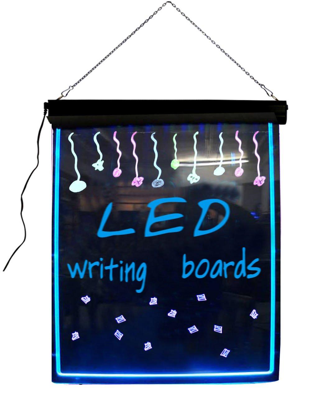 lighted menu board framed chalkboard for restaurants led household light bulbs amazoncom