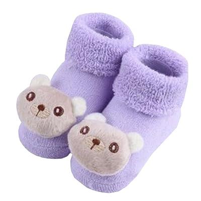 2 paires de cosy Designer unisexe-béb?coton chaussettes cadeaux pour bébés, ours