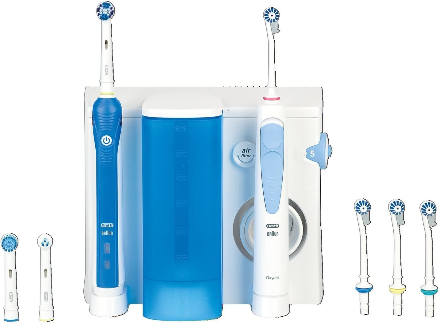 Oral-B Oxyjet + 2000 - Pack dental con cepillo de dientes recargable e irrigador Professional Care