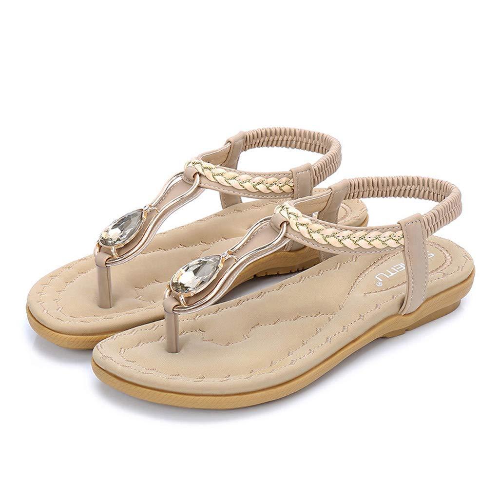 92c58469f8 Amazon.com: Creazrise Women Sequins Sandals Summer Rhinestone Flats Platform  Wedges Shoes Silver: Clothing