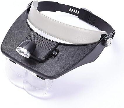 Home Office Decor 2 LED Headband lluminating Visor Magnifying Glasses Loupe
