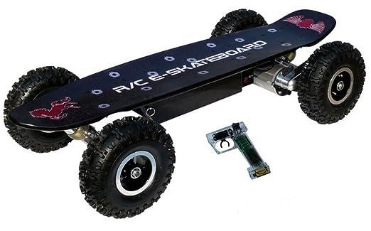 Webetop skate-board à grandes roues, à télécommande et à 3 modes de vitesse frein ABS électrique