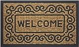 Achim Home Furnishings COM1830SC6 Scrolls Coco Door Mat, 18 by 30'