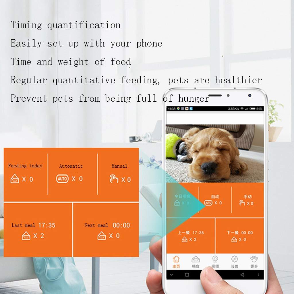 LFF.FF Pet Feeder Feeder Feeder quantitativo Intelligente monitoraggio temporizzatore Feeder Cane, Gatto, Ciotola con Fotocamera 6ec95d