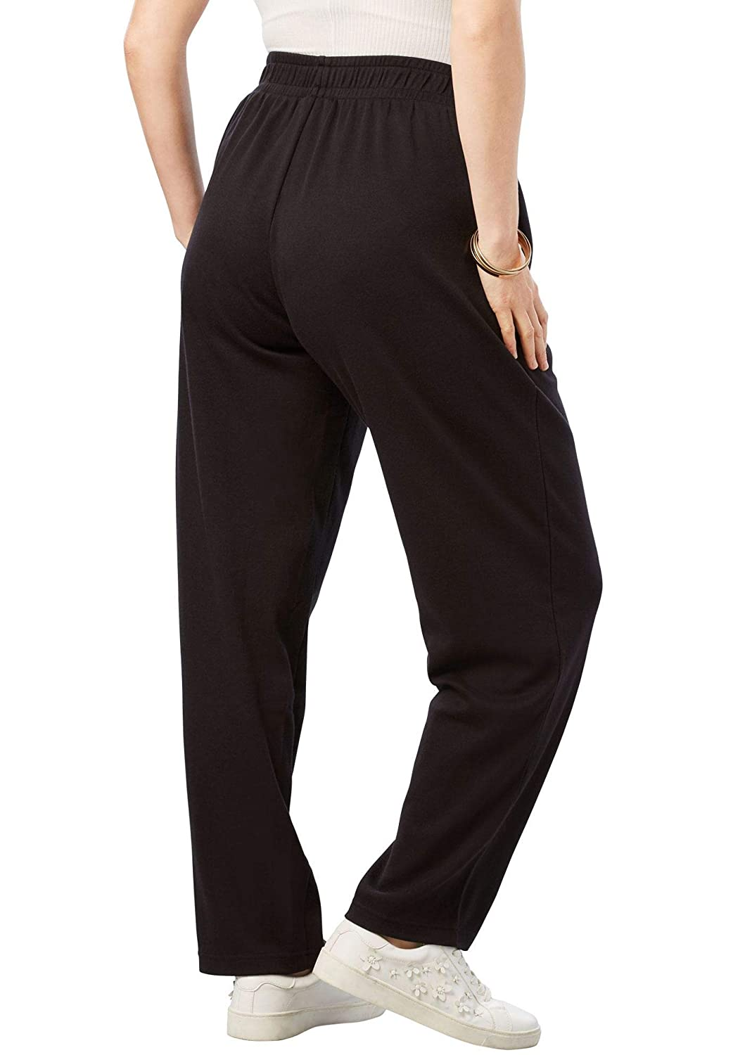 61b2f74513a Roamans Women s Plus Size Straight Leg Soft Knit Pant at Amazon Women s  Clothing store