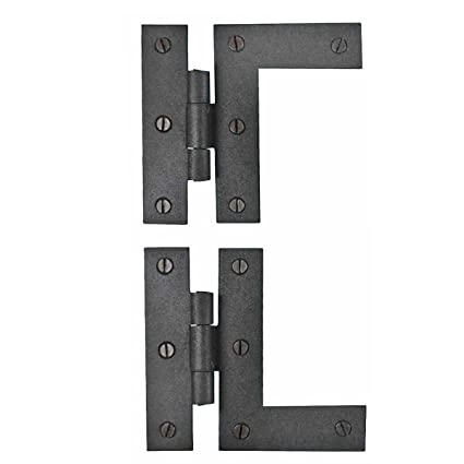 Renovator S Supply Wrought Iron Cabinet Hinges Black Left And Right Colonial Style Rust Resistant Finish Flush Mount