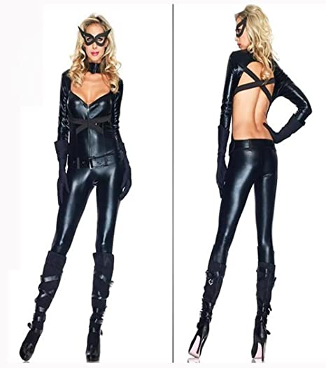 Catsuit Body Deluxe Catwoman disfraz de Batman el caballero oscuro ...