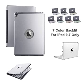 iPad Mini 4 Teclado Funda, Eoso Ultra Thin Folio Funda Smart Soporte Carcasa Funda con teclado ...